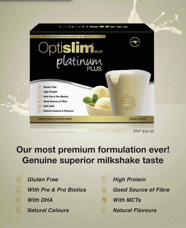 Optislim VLCD Platinum Plus Meal Replacement Shake Vanilla Weight Loss OptiSlim