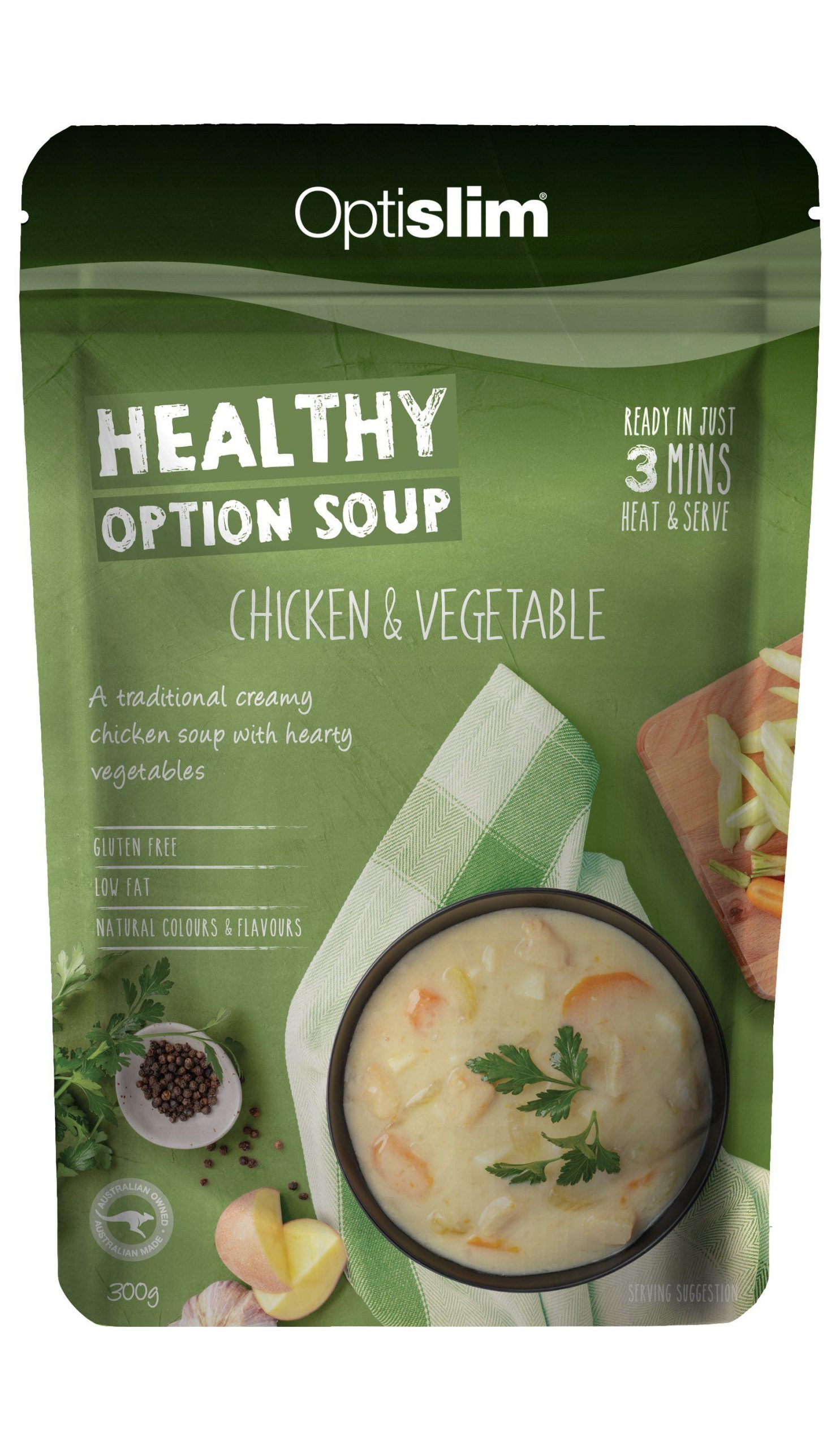 Healthy Option Soup Chicken and Vegetable Weight Loss OptiSlim