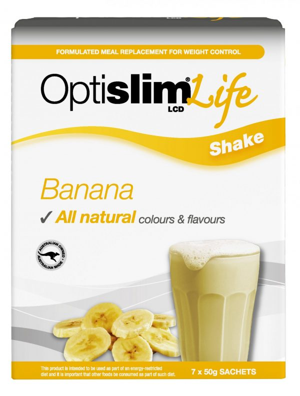 Optislim Life Shake LCD Banana (7x50g) Weight Loss OptiSlim