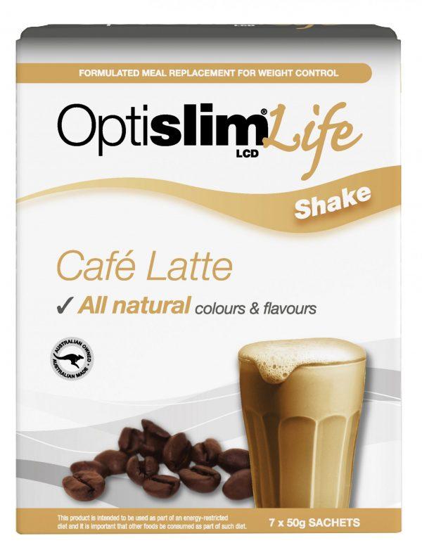 Optislim Life Shake LCD Cafe Latte (7x50g) Weight Loss OptiSlim