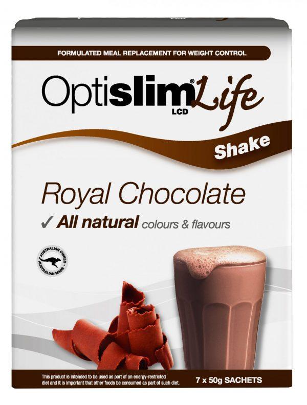 Optislim Life Shake LCD Royal Chocolate (7x50g) Weight Loss OptiSlim