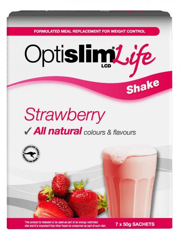 Optislim Life Shake LCD Strawberry (7x50g) Weight Loss OptiSlim
