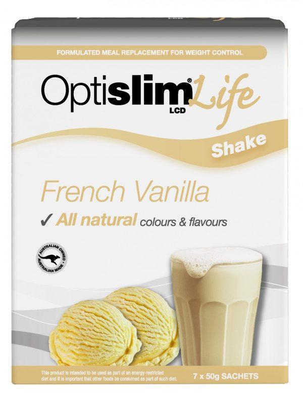 Optislim Life Shake LCD French Vanilla (7x50g) Weight Loss OptiSlim