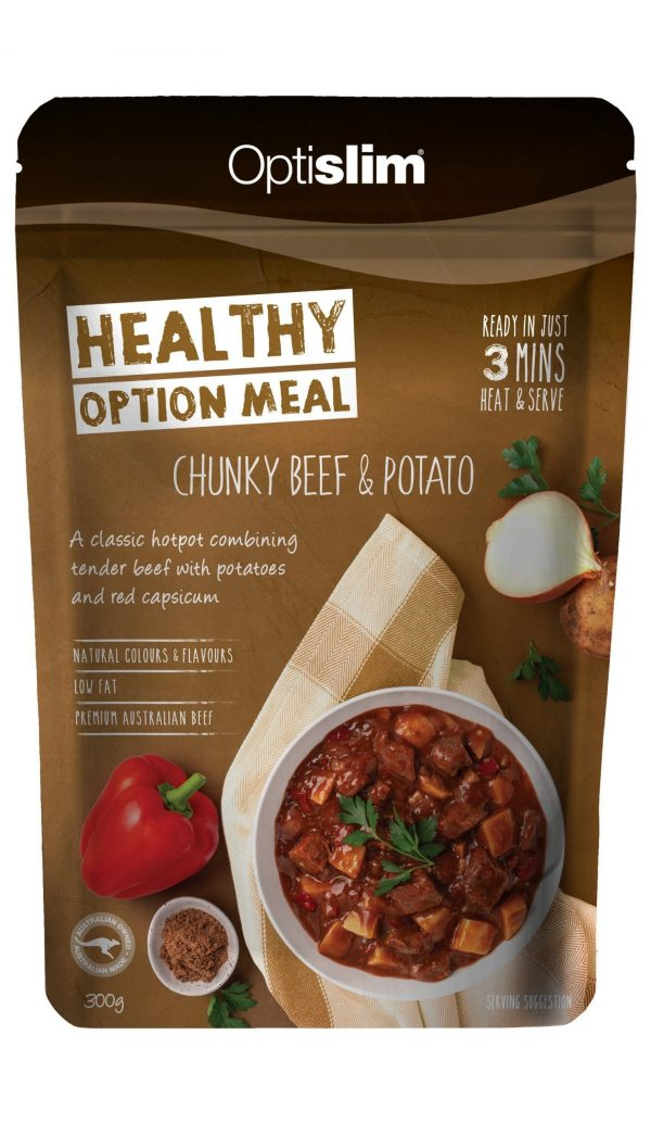 Healthy Option Meal Chunky Beef & Potato New Weight Loss OptiSlim