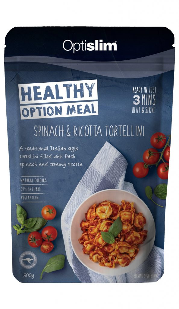 Healthy Option Meal Spinach & Ricotta Tortellini New Weight Loss OptiSlim