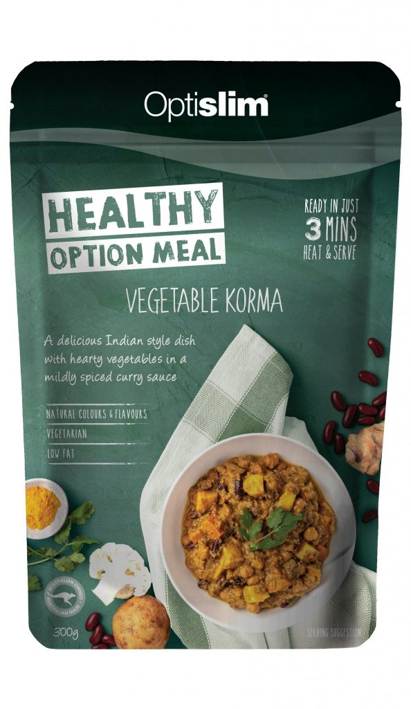Healthy Option Meal Vegetable & Bean Korma New Weight Loss OptiSlim