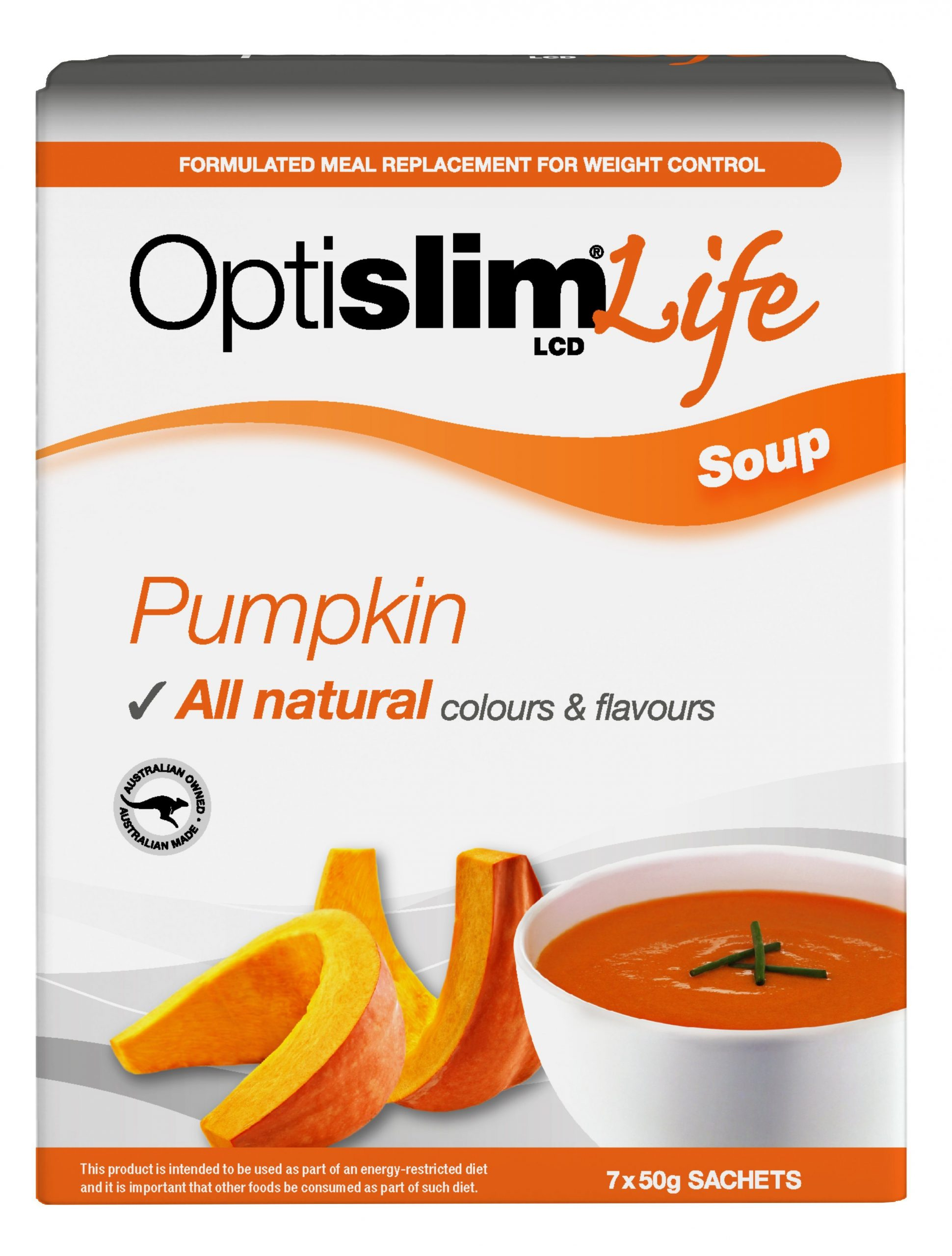 Optislim Life LCD Soup Pumpkin (7x50g) Weight Loss OptiSlim