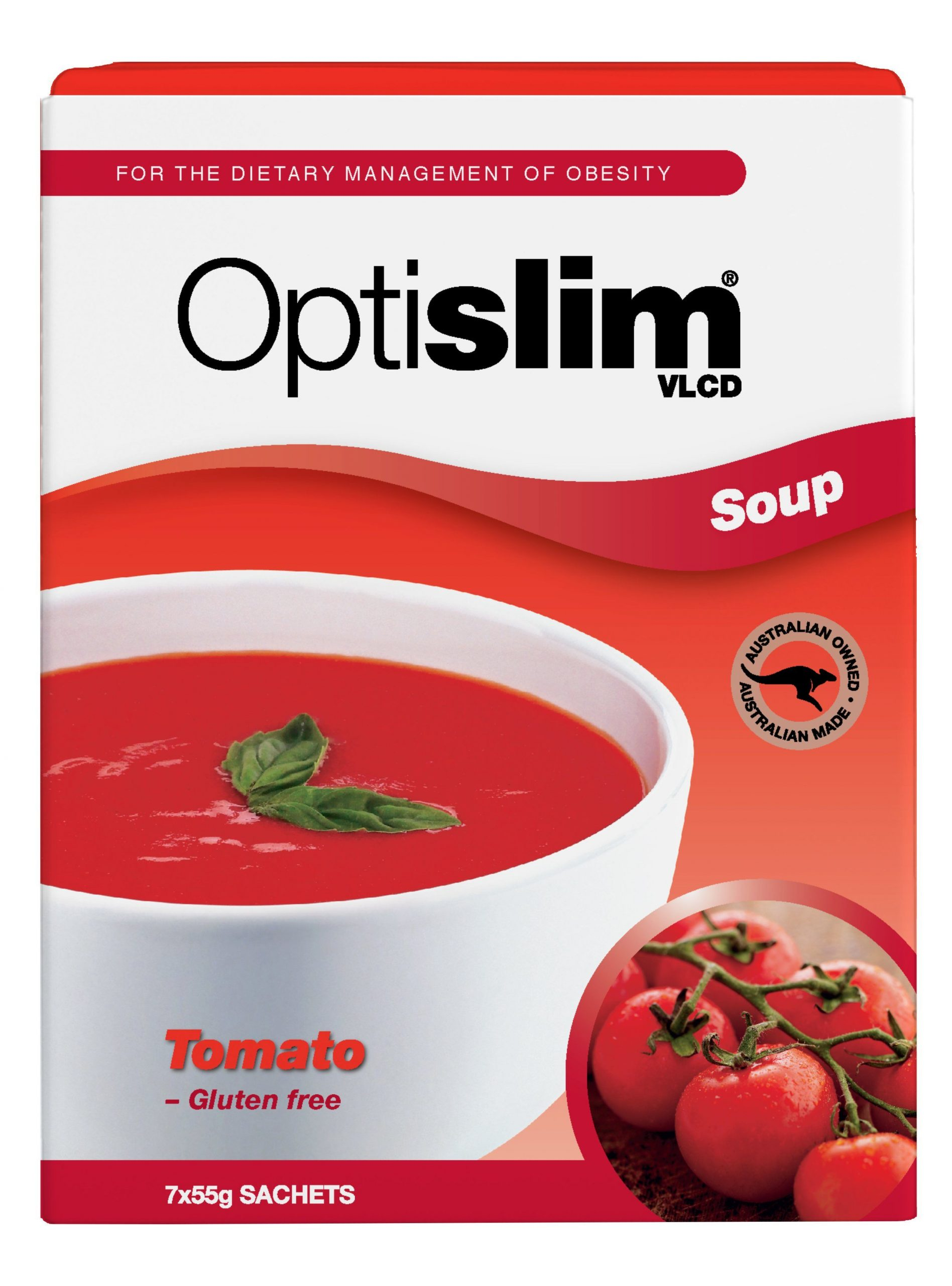 Optislim VLCD Soup Tomato (7x55g) Weight Loss OptiSlim